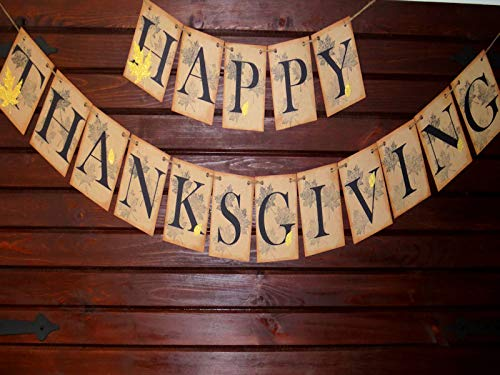 Happy Thanksgiving Banner, Fall banner, Thanksgiving Decor, Fall decoration banner