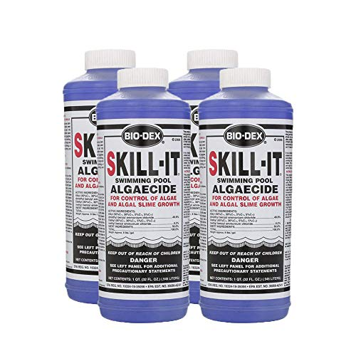 Bio-Dex 4 Pack Skill-it Fast Acting Pool Algaecide 1qt ()