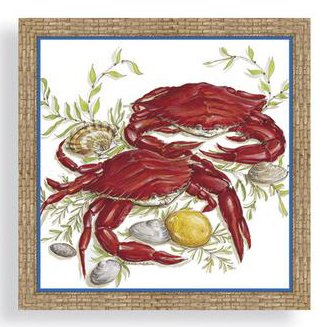 Crab-themed Three Ply Dinner Napkins by Cape Shore
