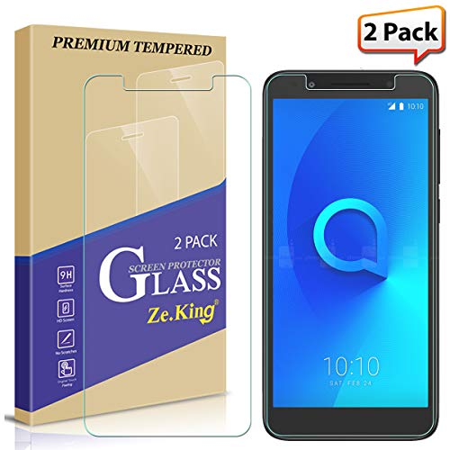 Zeking [2-Pack] Alcatel 1X Evolve/IdealXtra 5059R/ Alcatel Avalon V Tempered Glass Screen Protector 3D Touch Case Friendly 9H Hardness [Anti Scratch][Anti-Fingerprint] Bubble Free