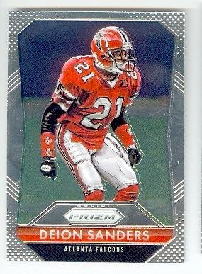 new products baf37 f6c06 Deion Sanders football card (Atlanta Falcons Prime Time NFL ...