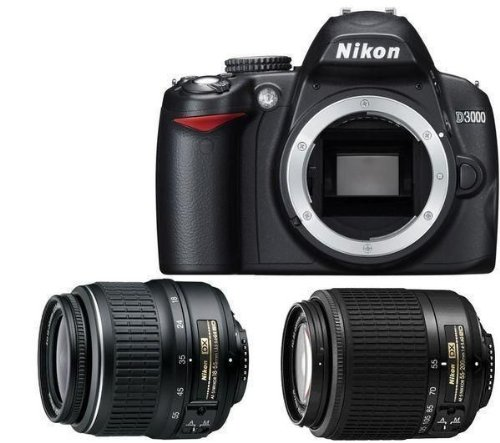 Nikon D3000 - Cámara Réflex Digital 10.2 MP (Objetivo 55-200 + SD ...