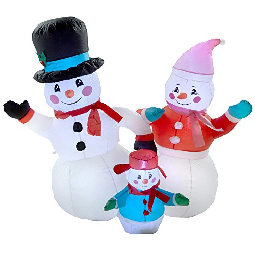 Outdoor Lighted Snowman Family - 6