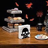 MyGift Black Metal Skull & Crossbones Napkin Holder