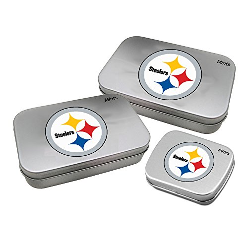 Worthy Promotional NFL Pittsburgh Steelers Decorative Mint Tin 3-Pack with Sugar-Free Mini Peppermint Candies