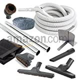 35 Foot Central Vacuum Deluxe Hardwood Hose and Accessory Kit