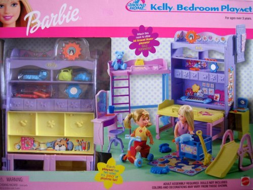 Barbie All Around Home KELLY Bedroom Playset w 2 Sides (2001)