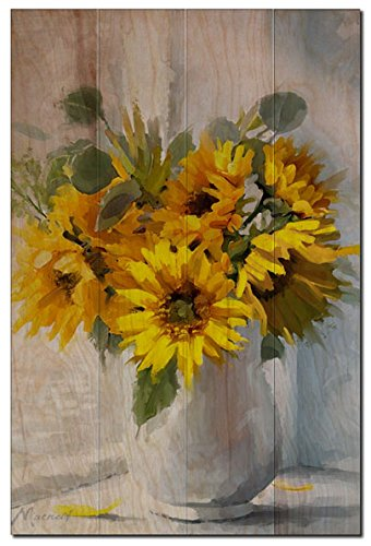 Artisans Fine Wall Art on Wood for Home Décor: Sunflower, 16