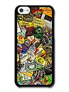 AMAF ? Accessories Beer Brands Collage Stickerbombs case for iphone 5c