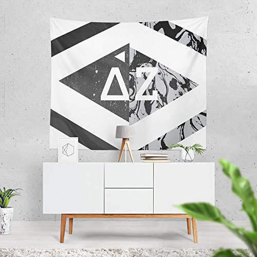 Delta Zeta Sorority Diamond Marble Dorm Apartment Wall Tapestry 60 Inches x 80 Inches DZ