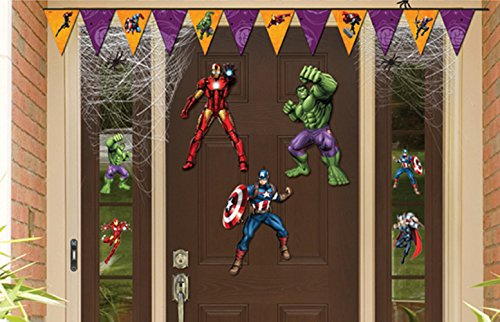 Avengers Decorations (Halloween Decorations and Party Supplies with Avengers Door Decorations and Window Clings)