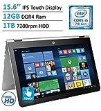 2017 HP Envy x360 15.6' Touchscreen 2-in-1 IPS FHD (1920 x 1080) Laptop PC   Intel Core i5-7200U   12GB DDR4 RAM   1TB HDD   Backlit Keyboard   Bluetooth   HDMI   B&O Play   Windows 10