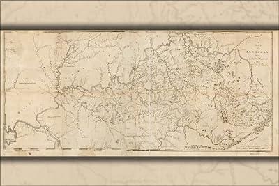 24x36 Poster; Map Of Kentucky By Elihu Barker 1793; Antique Reprint
