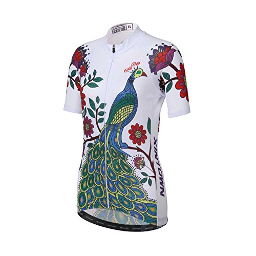 Ophelia Outdoor Mysenlan Hot Selling Five Petals Shortsleeve Cycling Jerseys Set Short-sleeved Suit Jersey for Women Lady Riding Dress Pink and Purple (Pink, - Fabric Ophelia