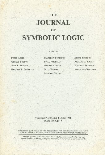 The Journal of Symbolic Logic: Volume 57, Number 2, June 1992
