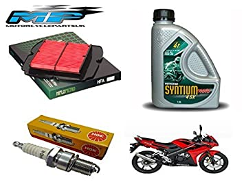 Kit de mantenimiento para HONDA CBR125 2004-16 : FILTRO DE AIRE, bujías y Aceite: Amazon.es: Coche y moto