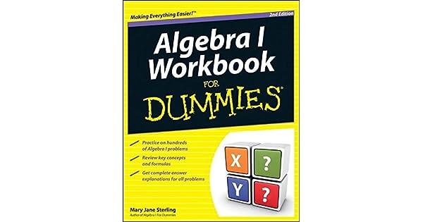 Algebra i workbook for dummies livros na amazon brasil 9781118049228 fandeluxe Gallery