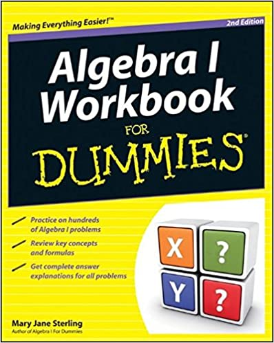 ALGEBRA WORKBOOK FOR DUMMIES EBOOK