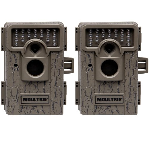2 MOULTRIE Game Spy M-550 Low Glow Infrared Digital Trail Hunting Cameras - 7 MP