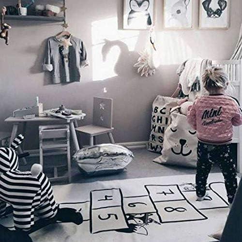 RETYLY B/éB/é Jeu de Marelle Tapis Enfants Activit/é Tapis de Gymnastique de Bande Dessin/éE Enfants Infantile Aventure Tapis Tapis Rampant Couverture