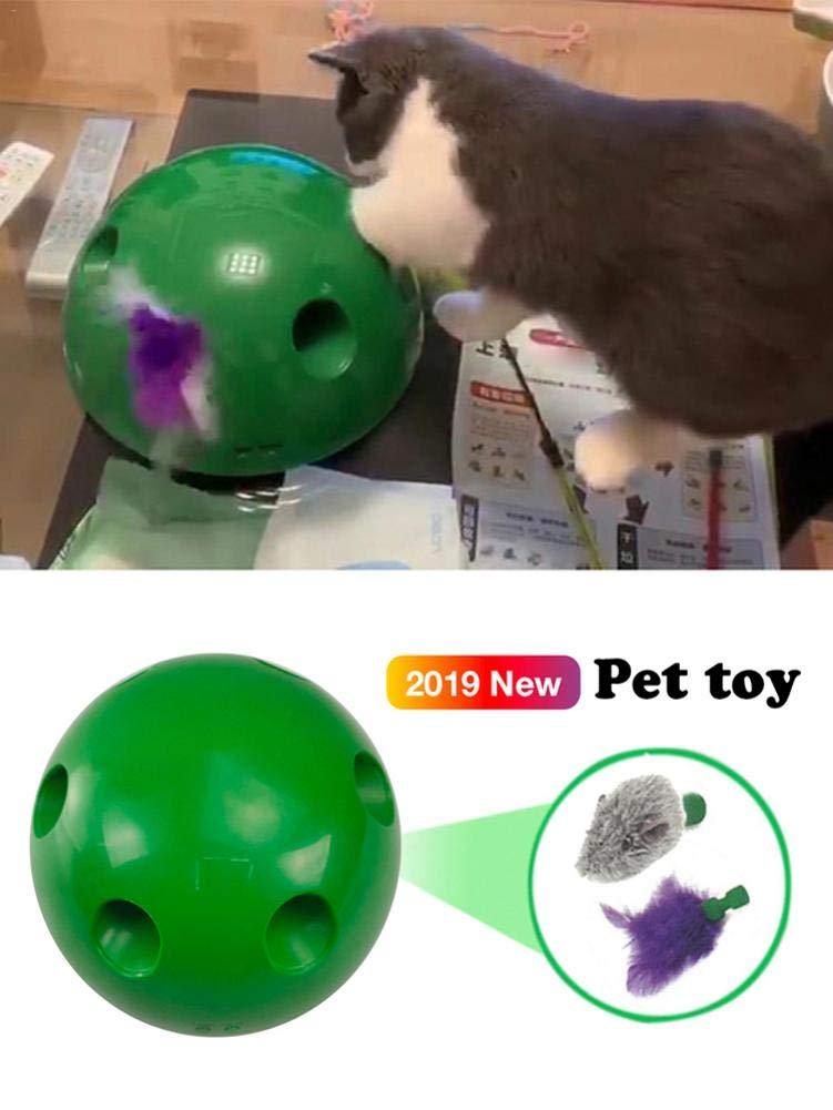 Interactive Cat Juego Mascota Captura Rat/ón Movimiento Cat Toy Persecuci/ón de Movimiento de rat/ón Divertido De Gato para Gatito Mascota Divertido Juego del Gatito Gato Juguete Divertido Mascota