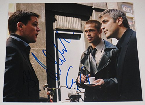 - GEORGE CLOONEY MATT DAMON BRAD PITT SIGNED 8X10 PHOTO AUTOGRAPH OCEANS COA A