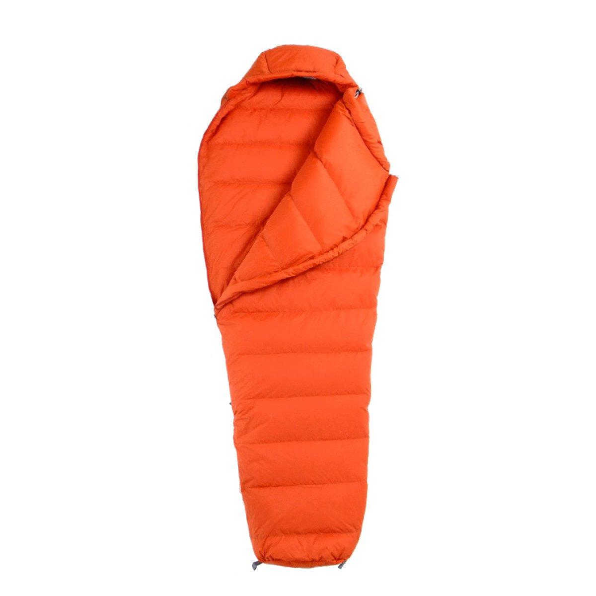 Yy.f Ultraligero Abajo Pato Abajo Sacos De Dormir Momia Portable El Adulto Acampar Al Aire Libre Senderismo Saco De Dormir,Orange-205*80cm: Amazon.es: ...