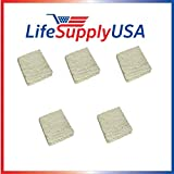 LifeSupplyUSA 5 Pack - Humidifier Evaporator Pad Filter with Wick fits Skuttle A04-1725-052, Model 2000