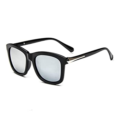 Z-P Classical Geek Retro Black Frame Color Film Lens Unisex Wayfarer UV400 Sunglasses 54MM MjndRuU