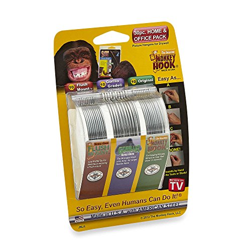 Monkey Hook Picture Hanger Home and Office Pack, 30 pc set by Monkey Hook