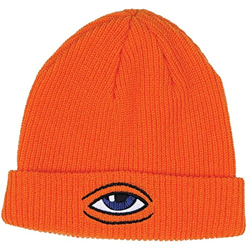 Toy Machine Mens Sect Eye Dock Beanie Hats One Size Orange