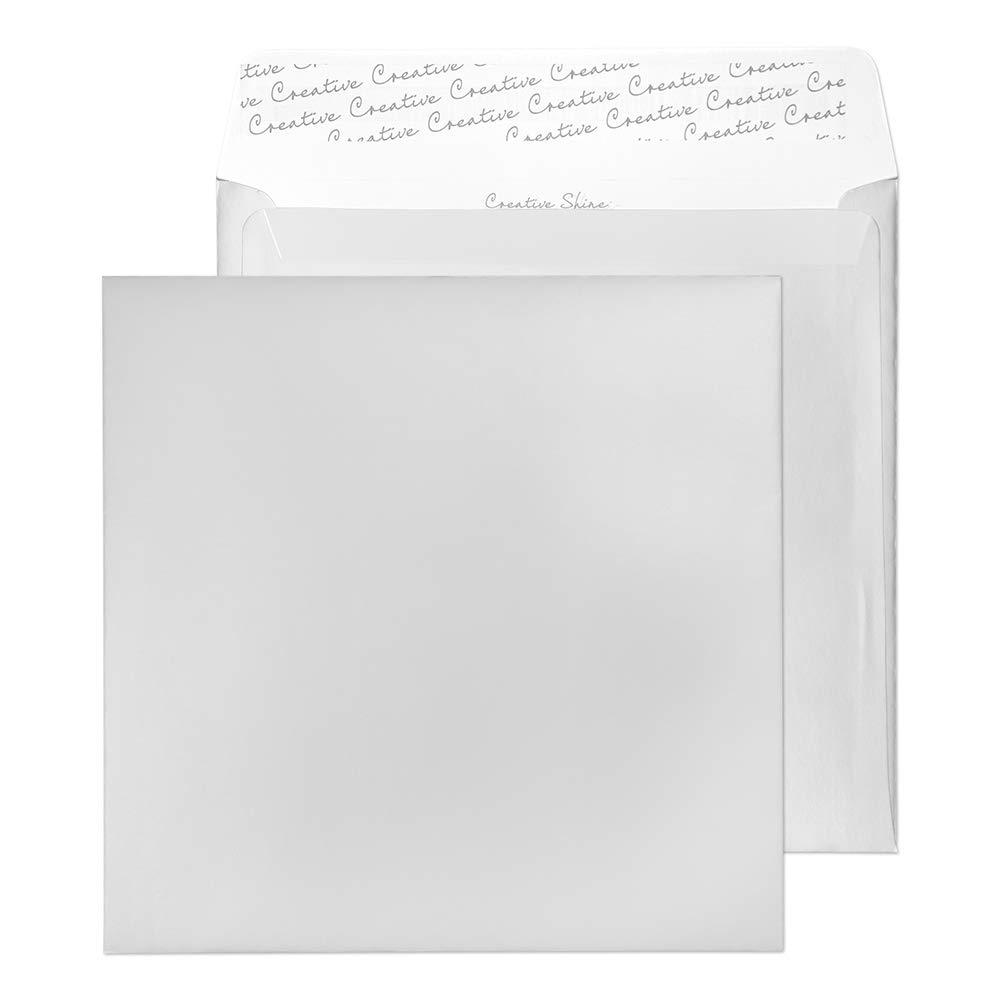 Creative Shine 220 x 220 mm haftklebend und Seal Umschlag – parent metallic Silber