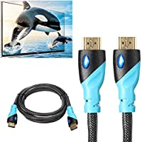 Vention C01 1.5M Black Male to Male HDMI Mesh Grid Cable Line For PC DVD XBOX PS3 Tablet