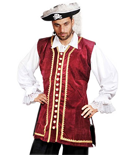 Pirate Frock Renaissance Medieval Costume Vest Jacket (X-Large) (Pirate Costume Jacket)