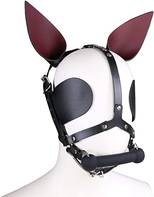 XXZ Fetish SM Perro máscara Cabeza arnés Cuello Boca Gag Bondage ...