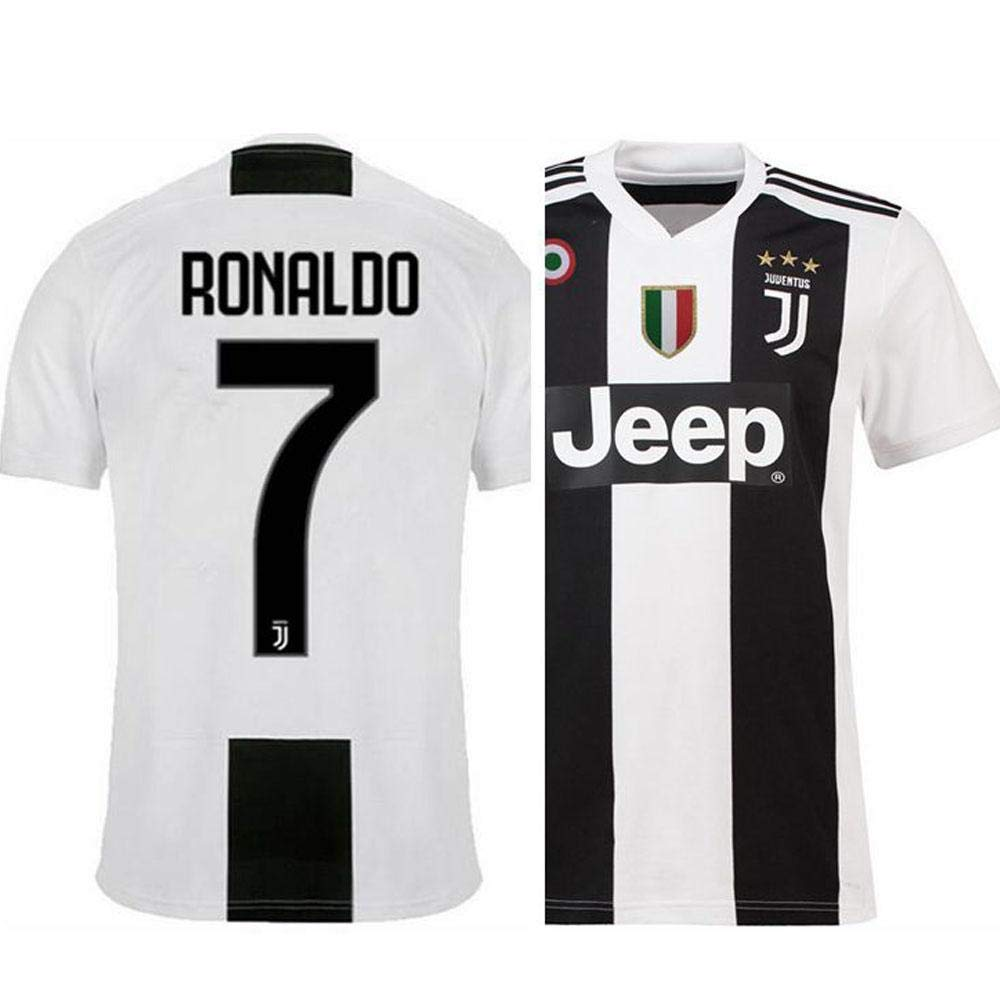 ad0443877d2 Buy GOLDEN FASHION Non Juventus Home KIT with Ronaldo Print 2018 19 Jersey  with Short Online at Low Prices in India - Amazon.in