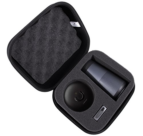 CASEMATIX Bose SoundLink Revolve Case For Bluetooth Speaker and Charging Cradle - Protective Exterior and Dense Foam Provide Ultimate Protection When Carrying Revolve and Accessories