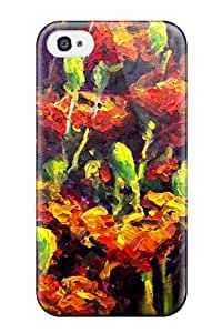 4/4s Scratch-proof Protection Case Cover For Iphone/ Hot Abstract Painting Phone Case