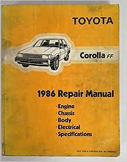 corolla 1986 user manual