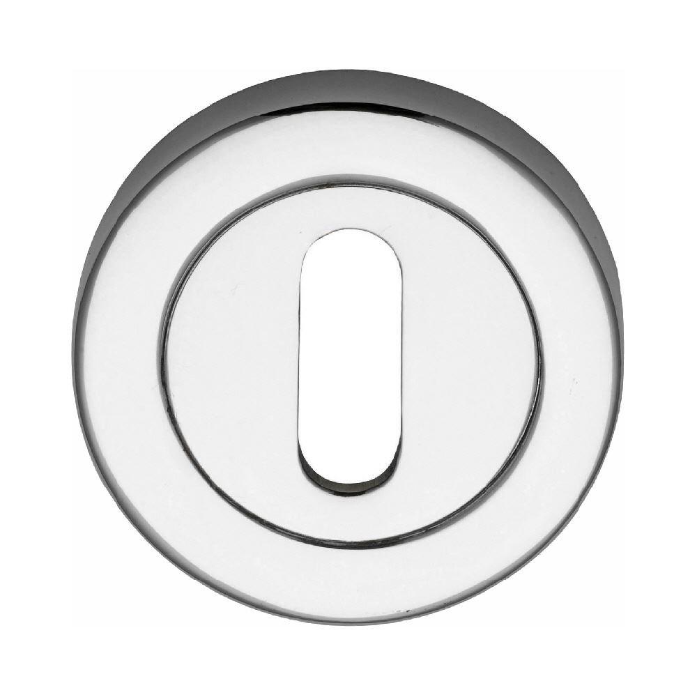 Dzina™ Escutcheon Keyhole 50mm Chrome Pack of 6 DzinaTM