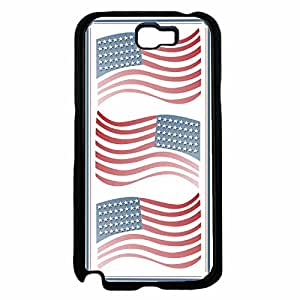 American Flags Design TPU RUBBER SILICONE Phone Case Back Cover Samsung Galaxy Note II 2 N7100