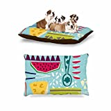 KESS InHouse Agnes Schugardt ''Dinner Out'' Food Vintage Dog Bed, 30'' x 40''