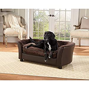 Enchanted Home Pet Brown Ultra Plush Panache Pet Bed 3