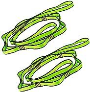SAIVEN Daisy Chain, Aerial Yoga Strap with 8 Loops Slackline Nylon Webbing Climbing Sling (2 Pcs)