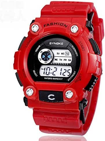 3ATM Water-proof Digital Kids Boys Sport Watches For 7-15 Years Old Boys Girls Red