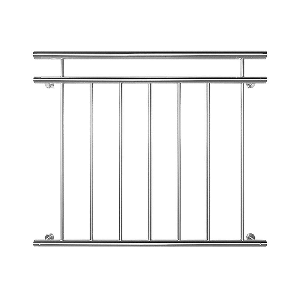 Edelstahl Franzö sischer Balkon Gelä nder Balkongelä nder 90 x 100 cm V2Aox