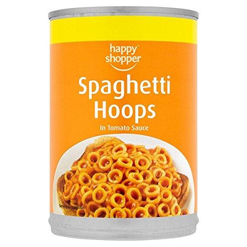 Comprador feliz Aros del espagueti en salsa de tomate 395g (paquete de 12 x 395g