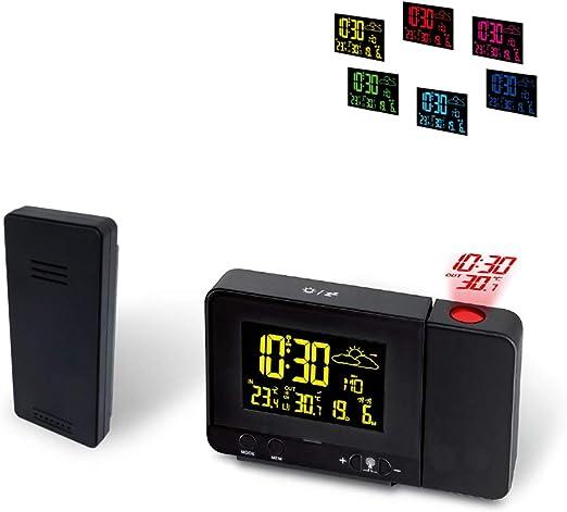 MRSLIU Reloj Proyector Techo - Proyector De Temporizador Digital ...