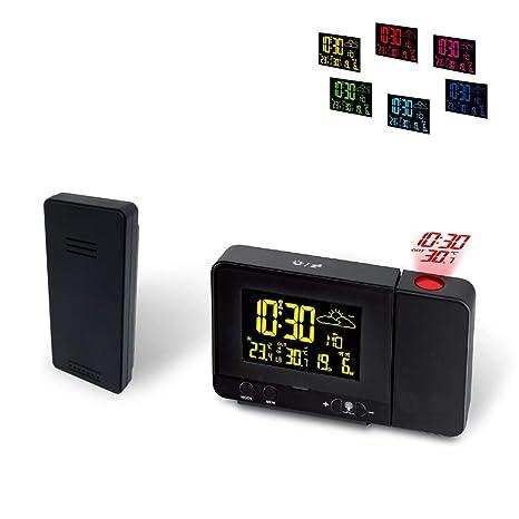 MRSLIU Reloj Proyector Techo - Proyector De Temporizador Digital, Relojes De Pantalla LED, Proyección