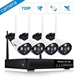 Wireless Security Camera System 4 channel 720P WiFi - Best Reviews Guide